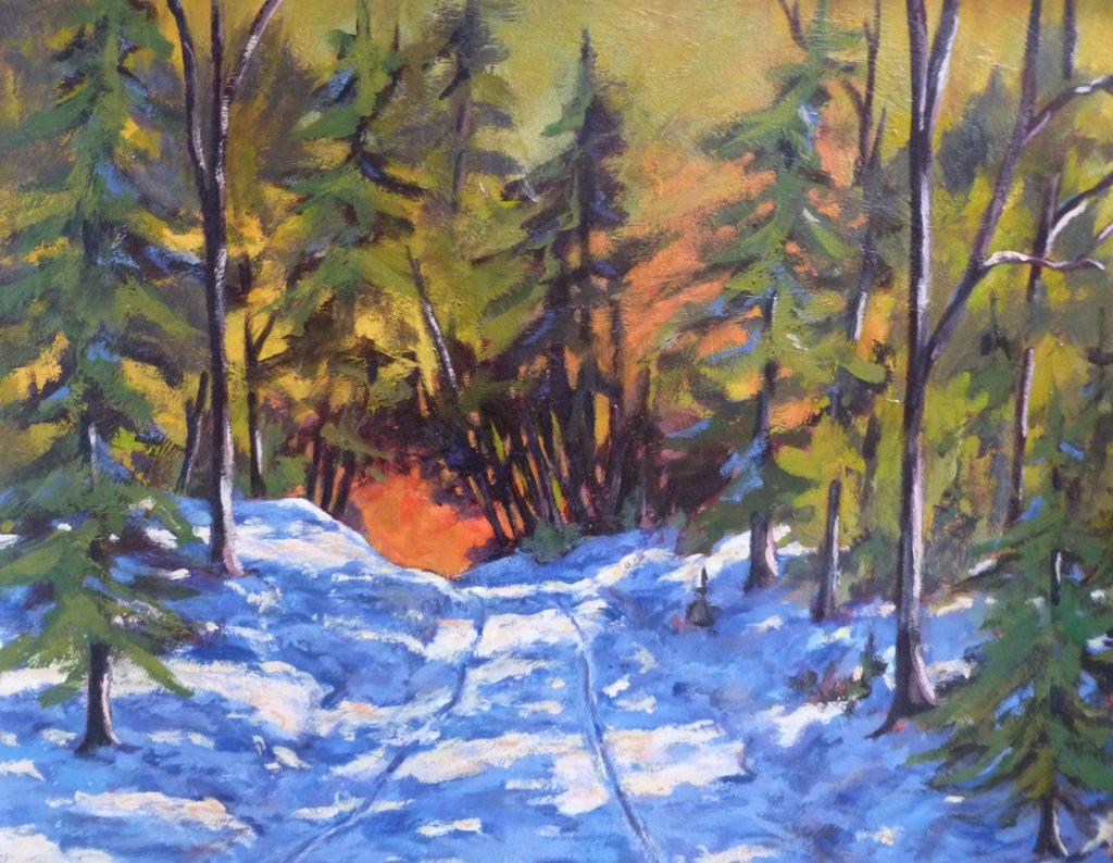 La paix des bois Mont-Comi (Acrylique -20x24) 715$