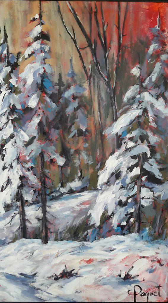 La bordée- Mont-Comi (Acrylique-30x 40) 1150$$
