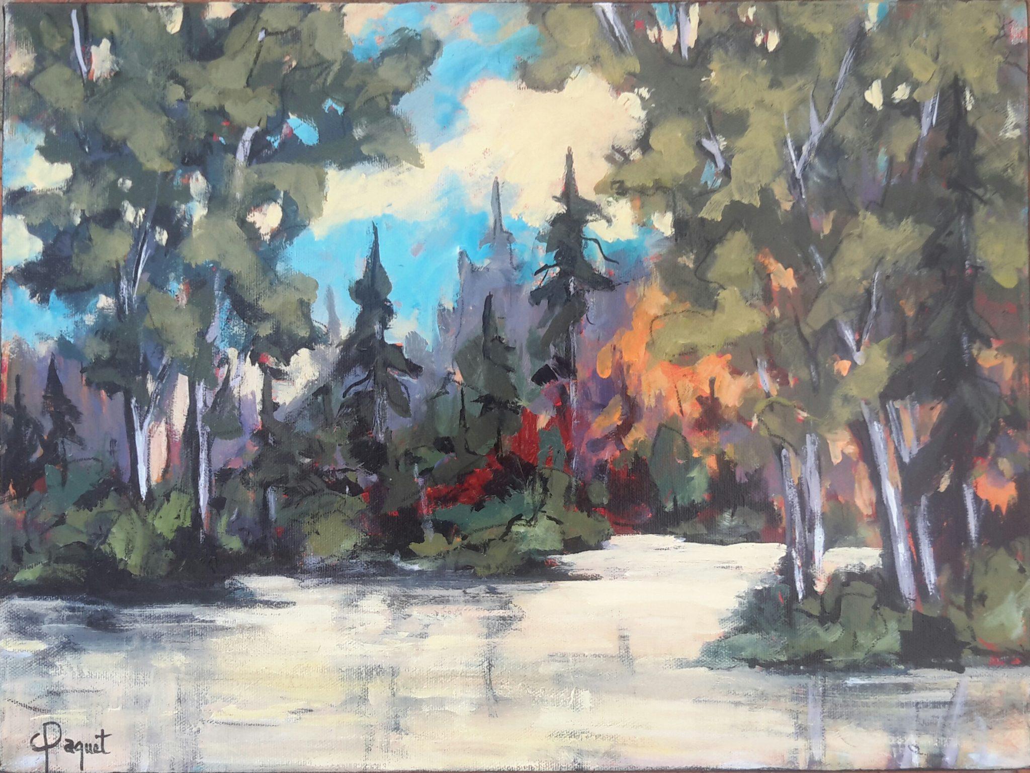 Inspiration du moment - Les Grand-jardins (Acrylique-16x20) 575$